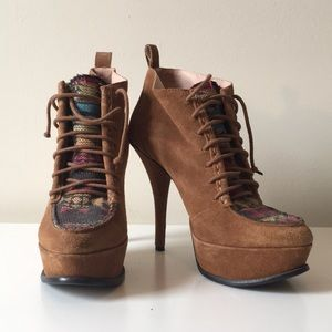 Betsey Johnson Vintage Suede High Heel Boots